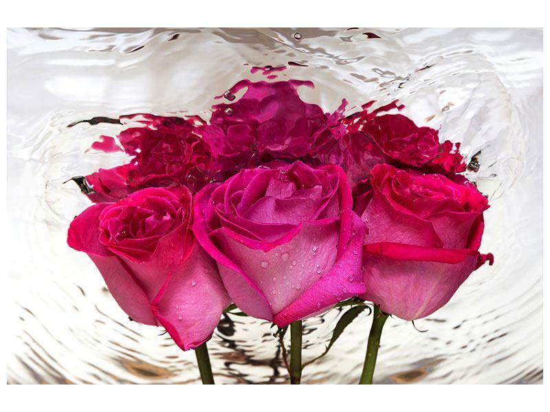 Metallic-Bild Die Rosenspiegelung