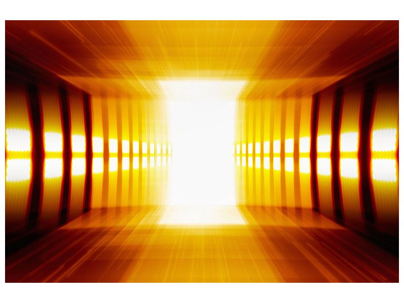 Metallic-Bild Abstrakter Goldener Raum