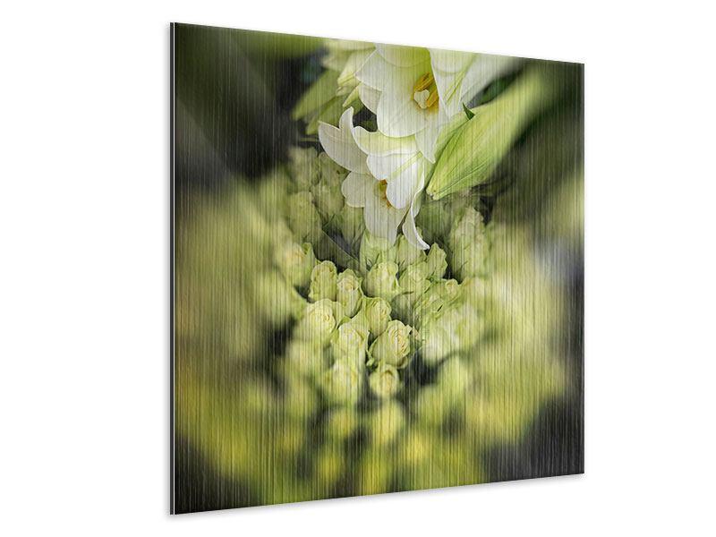 Metallic-Bild Die Lilien und Friends