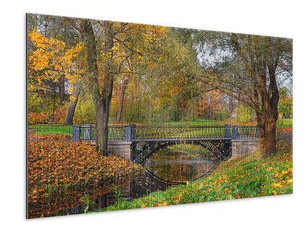 Metallic-Bild Romantischer Park