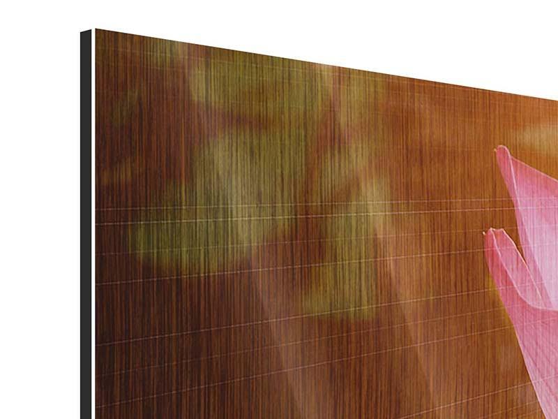 Metallic-Bild Close Up Lotus