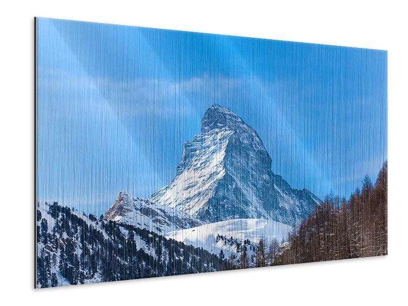 Metallic-Bild Das majestätische Matterhorn
