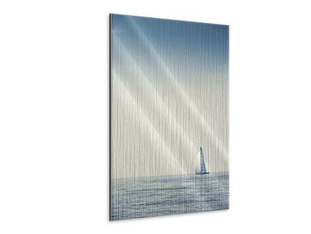 Metallic-Bild Segelboot