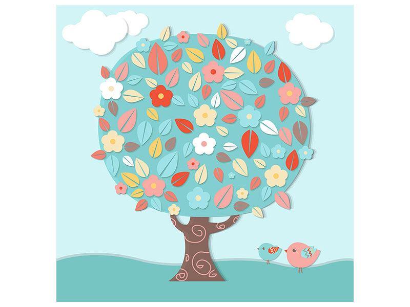 Metallic-Bild Der Kinderzimmer Baum