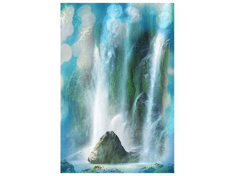 Metallic-Bild Im Wasserfall