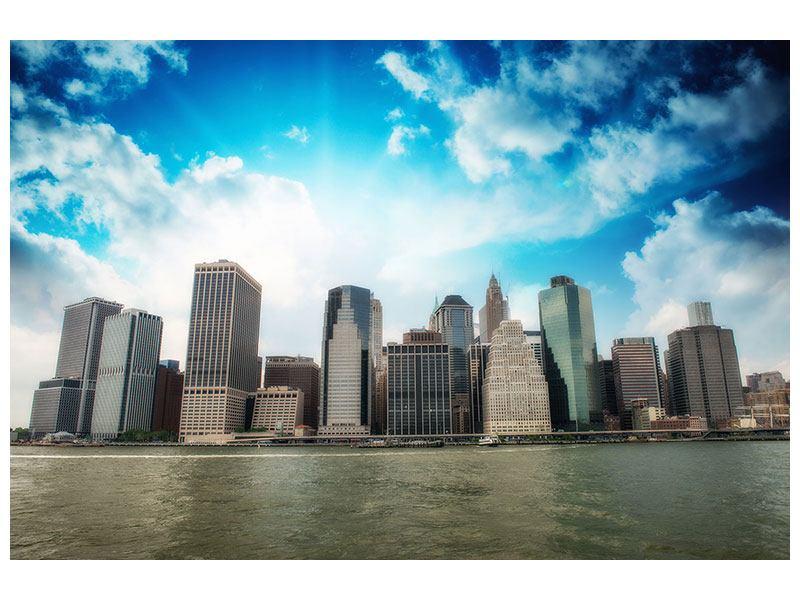 Metallic-Bild Skyline Lower Manhattan