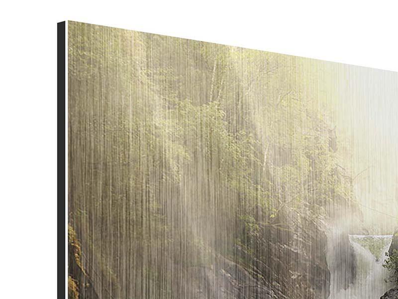 Metallic-Bild Der Wasserfall