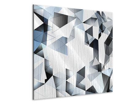 Metallic-Bild 3D-Kristalle