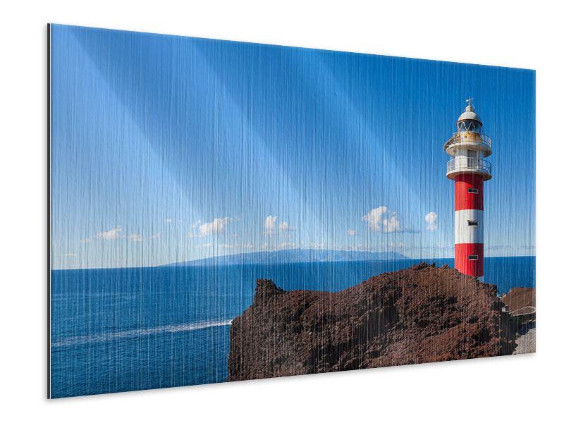 Metallic-Bild Leuchtturm in Punta Teno