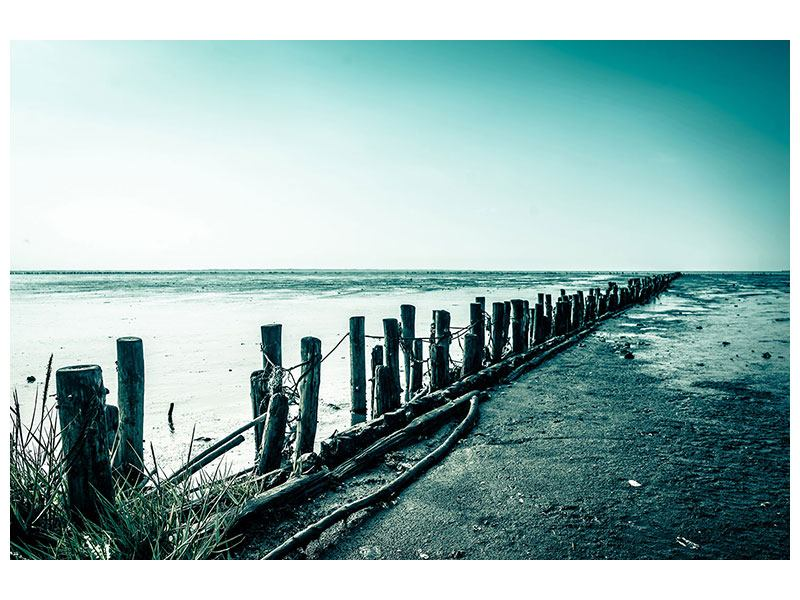 Metallic-Bild Das Wattenmeer