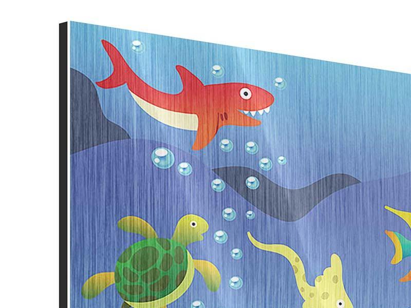 Metallic-Bild Lustige Fische