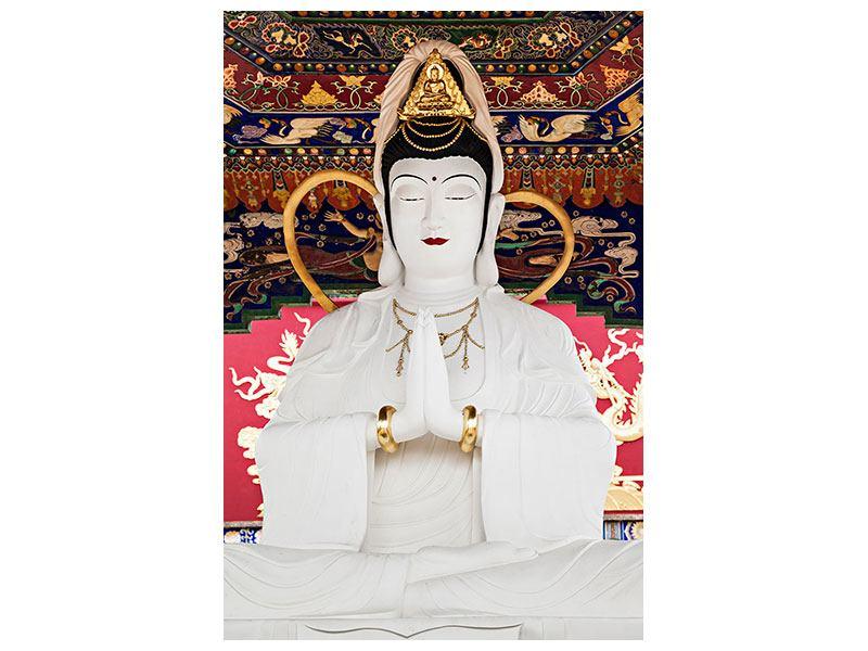 Metallic-Bild Meditierende Buddha-Statur