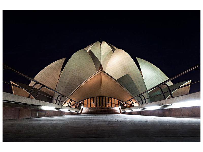 Metallic-Bild Der Lotus-Tempel