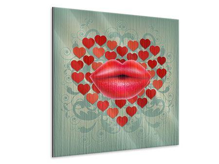Metallic-Bild Rote Lippen soll man küssen