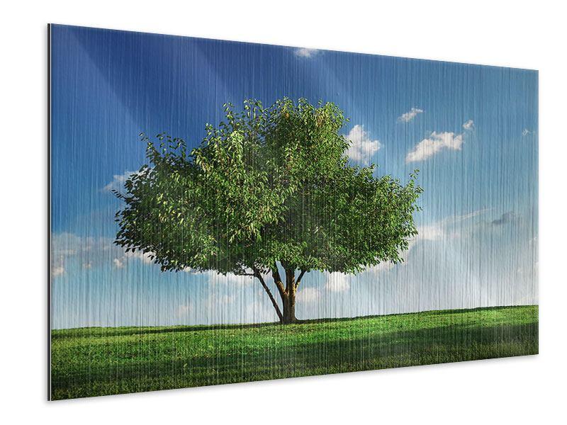 Metallic-Bild Baum im Grün