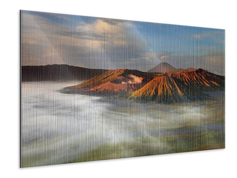 Metallic-Bild Der Bromo Vulkan