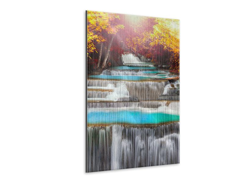 Metallic-Bild Huay Mae Khamin Wasserfall