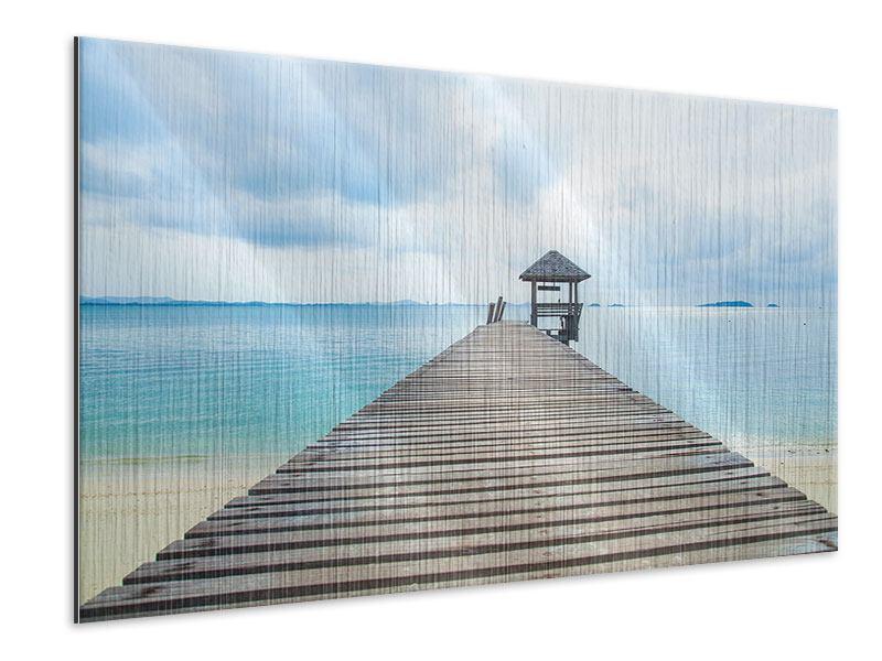 Metallic-Bild Ozean-Steg