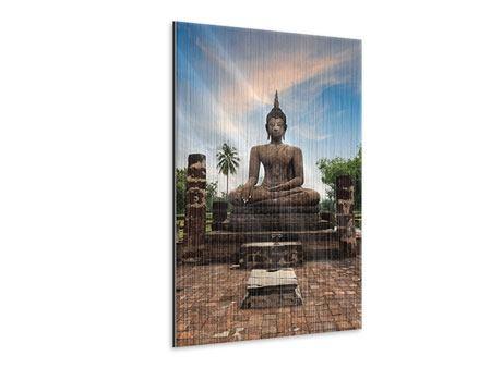 Metallic-Bild Buddha Statue