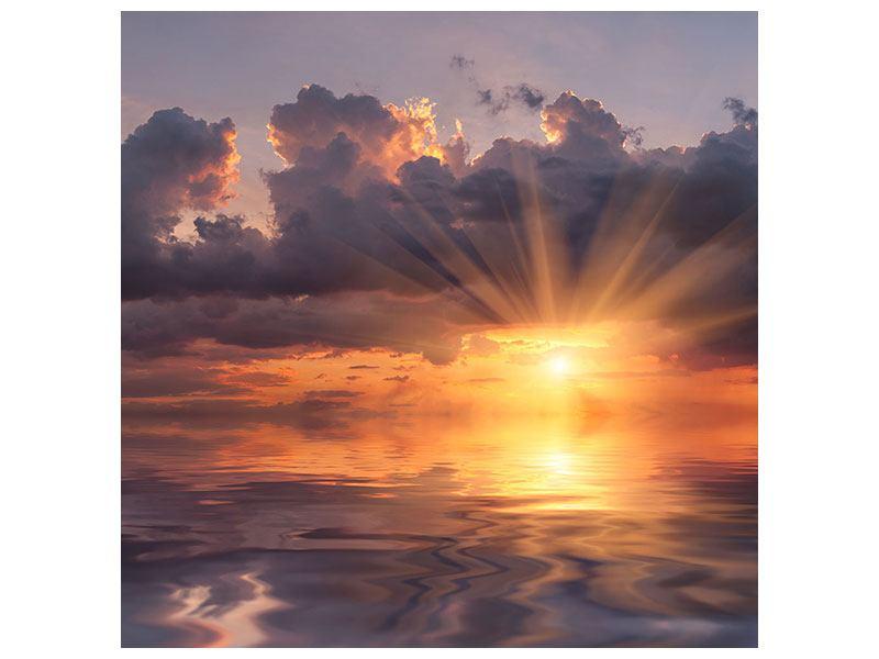 Metallic-Bild Packender Sonnenuntergang