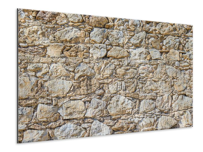 Metallic-Bild Sandsteinmauer