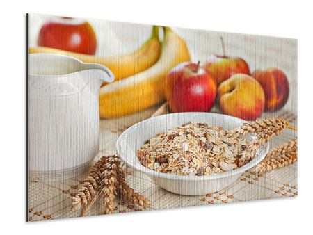 Metallic-Bild Frühstück