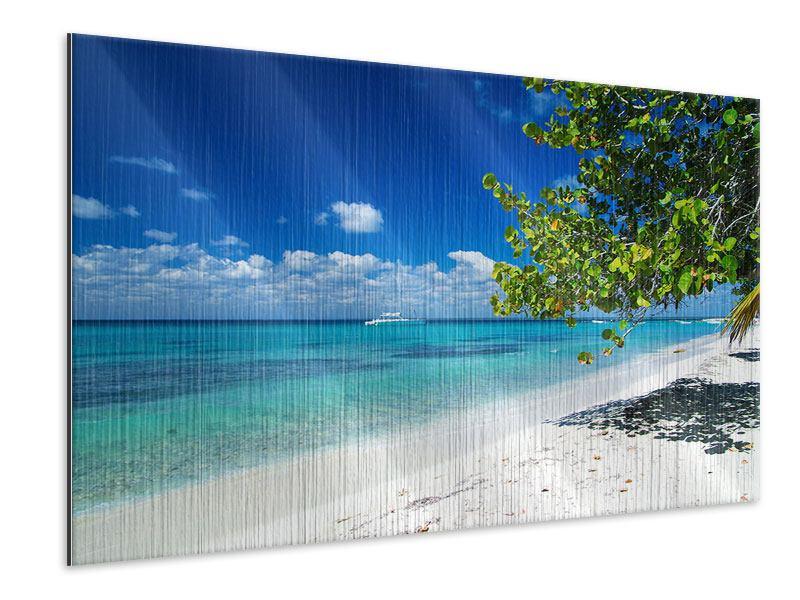Metallic-Bild Happy Beach