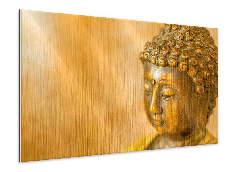 Metallic-Bild Buddha Kopf