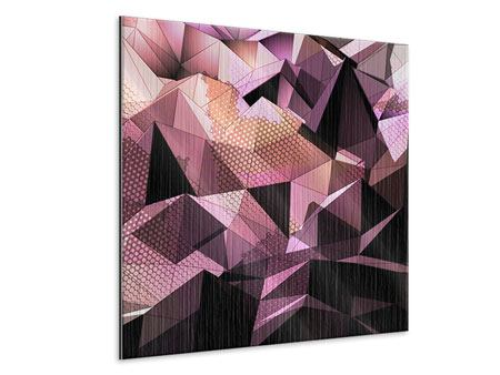 Metallic-Bild 3D-Kristallstruktur