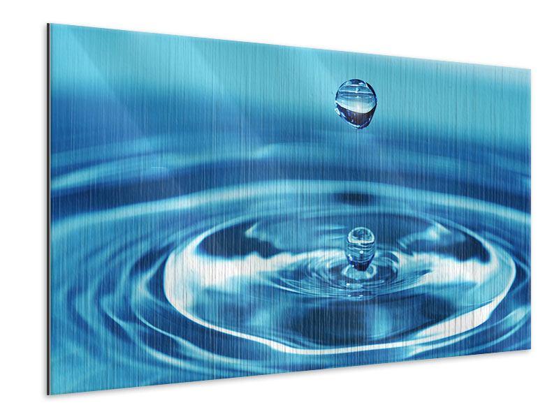 Metallic-Bild Der Wassertropfen