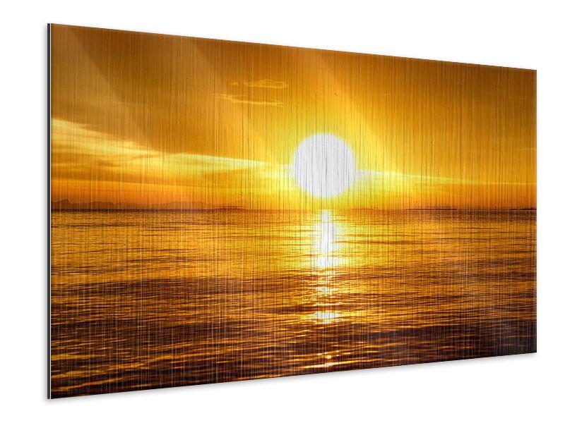 Metallic-Bild Traumhafter Sonnenuntergang