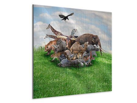 Metallic-Bild Bereit für die Arche Noah