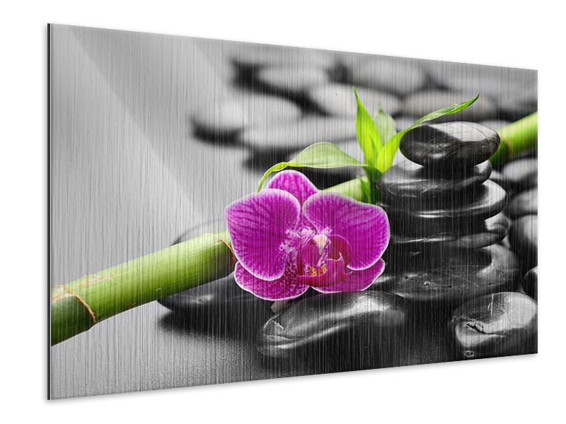 Metallic-Bild Feng-Shui-Orchidee