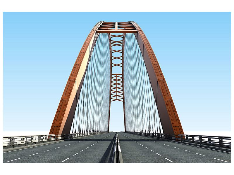 Metallic-Bild Brückenpanorama