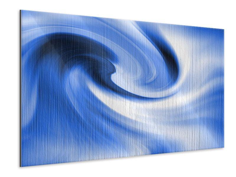 Metallic-Bild Abstrakte blaue Welle