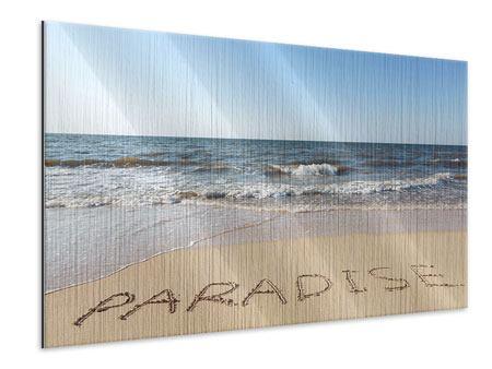 Metallic-Bild Sandspuren