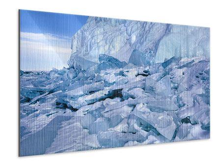 Metallic-Bild Eislandschaft Baikalsee