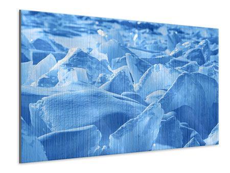 Metallic-Bild Eis des Baikalsees