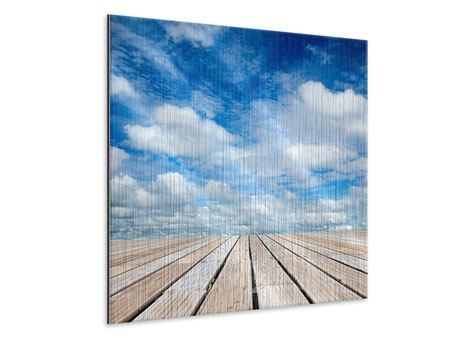 Metallic-Bild Hoch über den Wolken