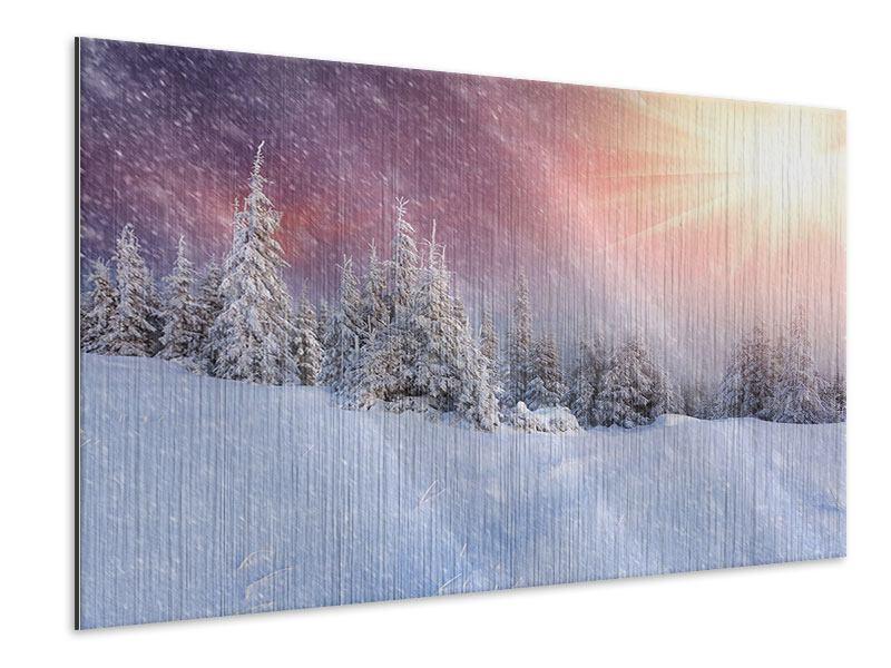 Metallic-Bild Mystischer Schneesturm