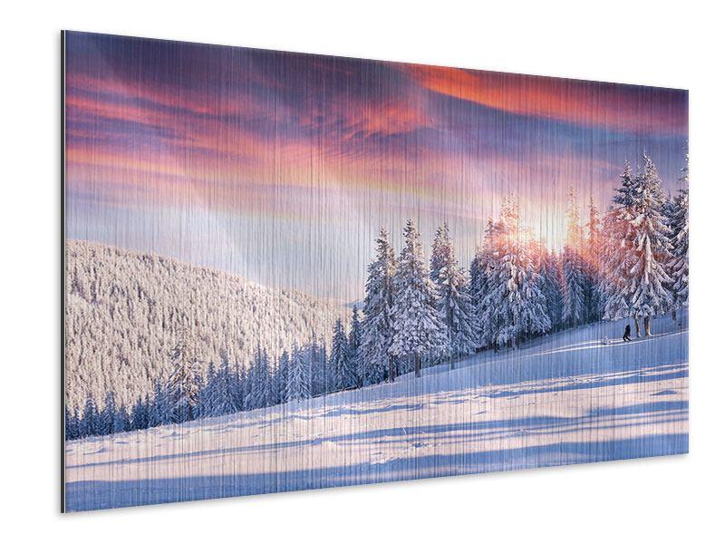 Metallic-Bild Winterlandschaft