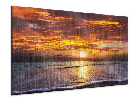 Metallic-Bild Entspannung am Meer
