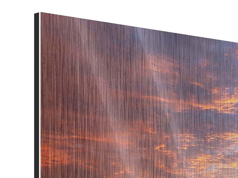 Metallic-Bild Sonnenuntergang
