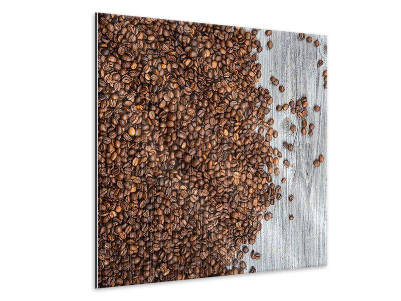 Metallic-Bild Kaffeebohnen