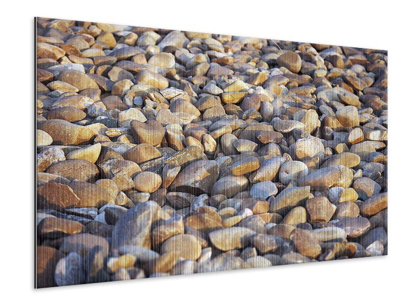 Metallic-Bild Strandsteine