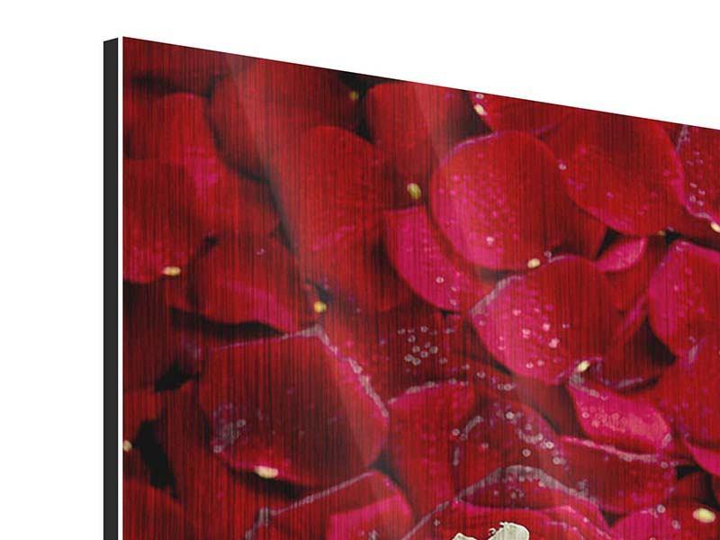Metallic-Bild Auf Rosen gebettet