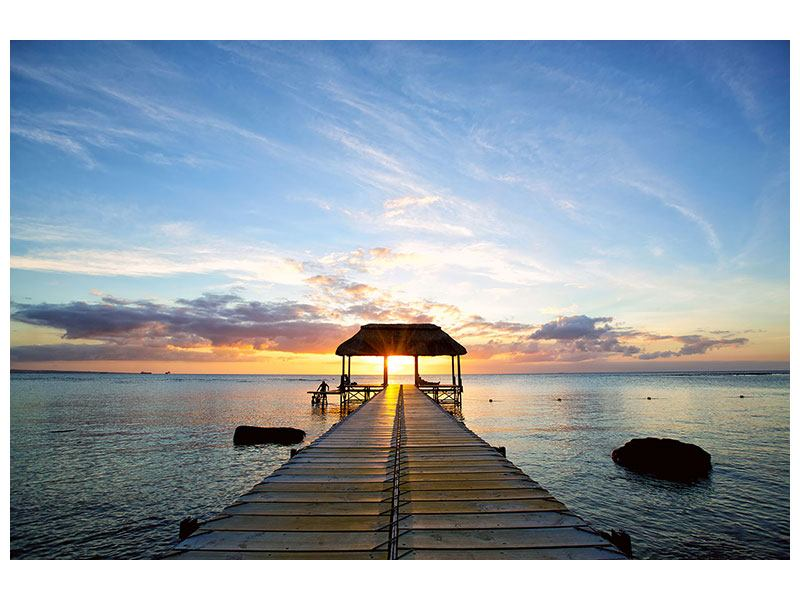 Metallic-Bild Romantik auf Mauritius