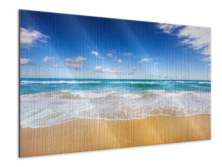 Metallic-Bild Die Gezeiten und das Meer