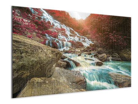 Metallic-Bild Exotischer Wasserfall