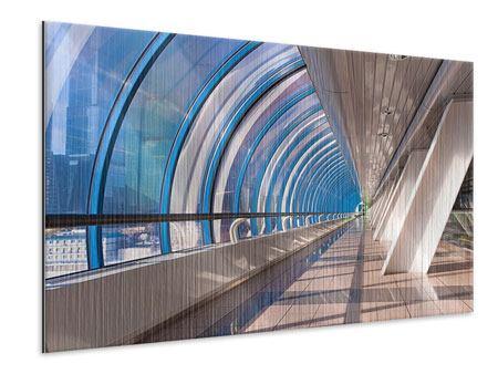 Metallic-Bild Hypermoderne Brücke
